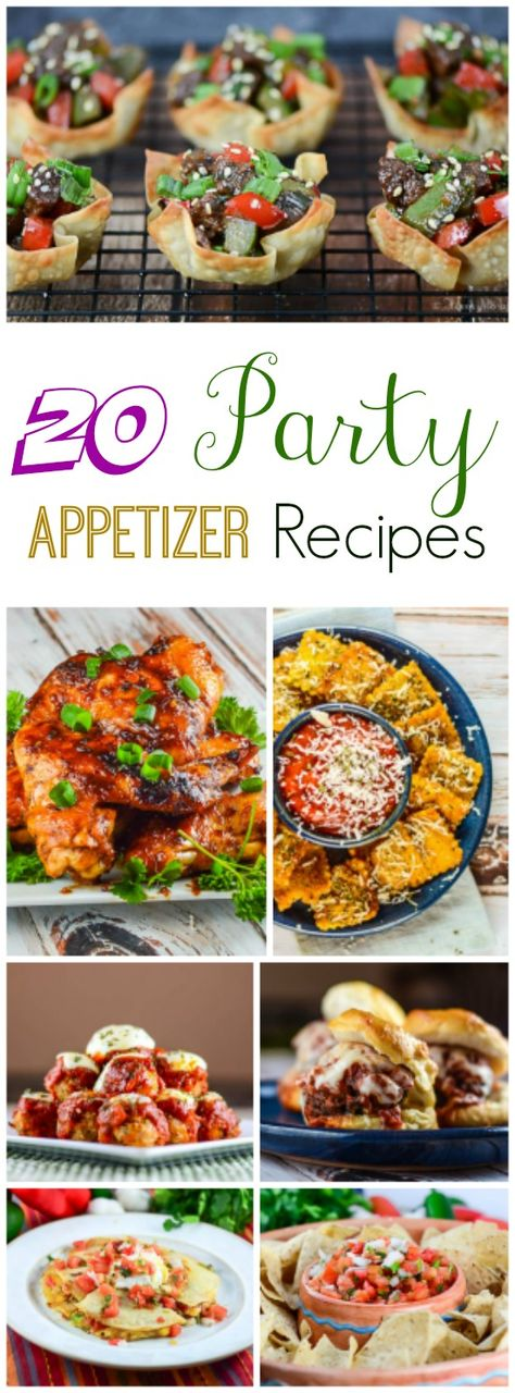 20 Party Appetizer Recipes that are perfect for watching the big game!