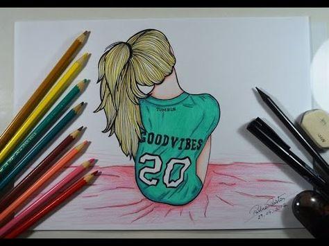 Como Desenhar Garota Sentada Estilo Tumblr Youtube Livros