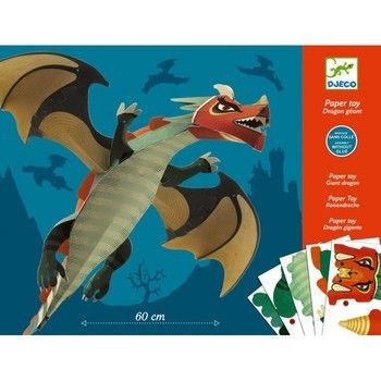 Djeco Folding Paper Giant Dragon A Fab Paper Modelling Kit That