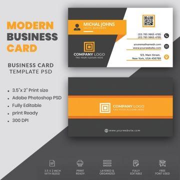 Modern Elegant Business Card Design Elegant Business Cards Design Business Card Design Business Card Template Psd