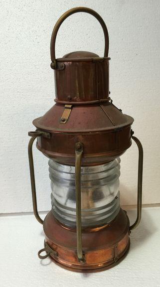 Copper anchor ship lantern Small in 2020 | Lanterns, Old