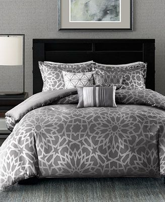 Madison Park Carlow 7 Pc Queen Comforter Set Reviews Bed In A Bag Bed Bath Macy S In 2021 Comforter Sets California King Duvet Cover Bedding Sets