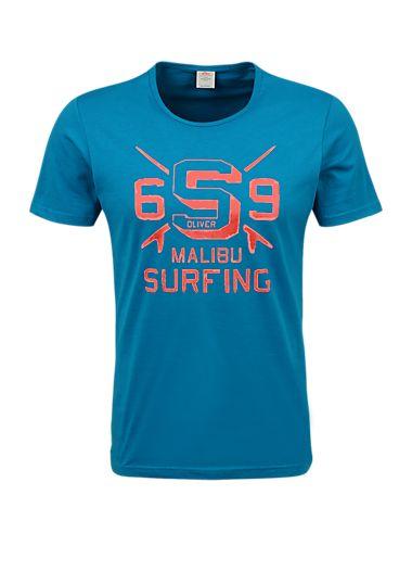 T Shirt Mit Surfer Print Im S Oliver Online Shop Printed Shirts Shirts T Shirt