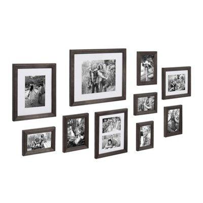 10pc Bordeaux Wood Frame Set Gray Kate Laurel All Things Decor In 2020 Frame Set Frame Decor