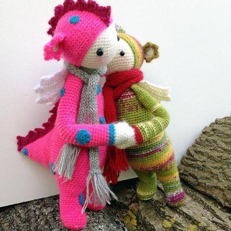 Амигуруми: Дракон Lalylala. Бесплатная схема для вязания игрушки. FREE amigurumi pattern. #амигуруми #amigurumi #схема #pattern #вязание #crochet