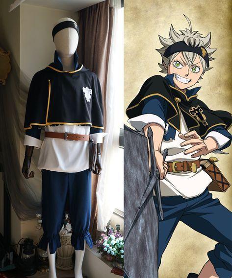 asta cosplay Black Clover Cosplay, Asta Costume Set  Cosplay anime, Black