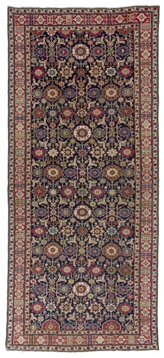 A Magnificent Afshan Kuba Rug From Shirvan Region North East Caucasus Ca 1800s 5 3 X 12 160x364 Cm This Fine Afshan R Rugs Tribal Rug Rugs And Carpet