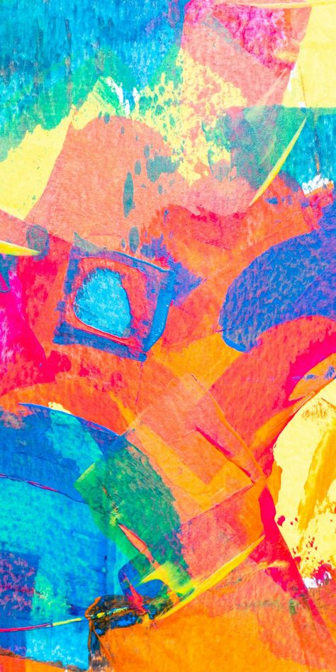 Colorful, artwork, stains, painting, abstract, 1080x2160 wallpaper