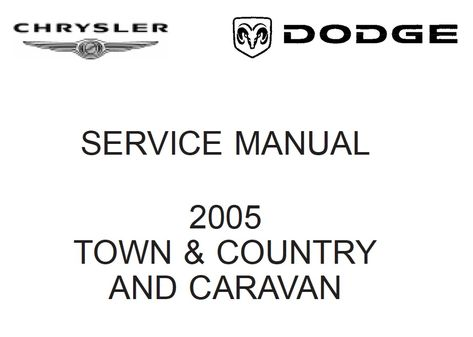 Chrysler RS Town & Country, Caravan and Voyager 2005