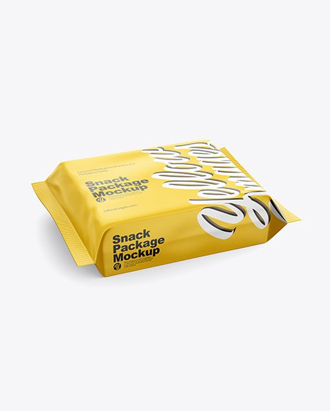Download Snack Package Mockup Half Side View High Angle Shot In Flow Pack Mockups On Yellow Images Object Mockups Mockup Free Psd Free Psd Mockups Templates Mockup Psd