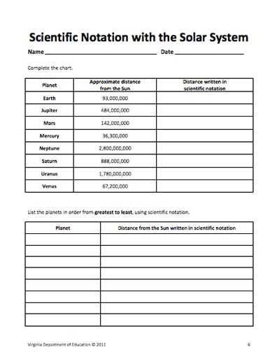 Scientific Notation Practice Worksheet and 25 Best Exponents ...