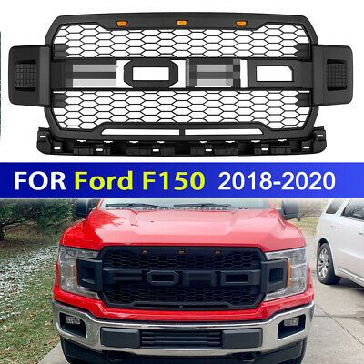 For 2018 2019 2020 Ford F150 Grille Raptor Style Front Bumper Mesh Grill W Led Ebay In 2021 Ford F150 Ford Grilles