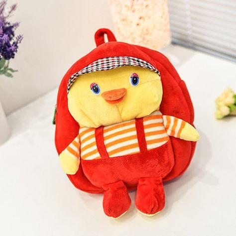 Cute Cartoon Plush Nursery Children Backpack Bags 3D Duck Soft Doll Baby  Kids 27a4923eaa00d