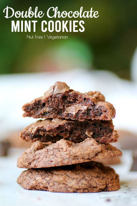 double chocolate mint cookies recipe mint cookies chocolate mint cookies mint chocolate pinterest