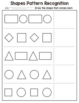 Shapes Pattern Recognition For Kindergarten Preschool Pattern