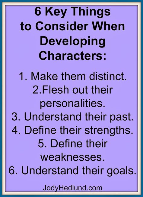 6 Key Things to Consider When Developing Characters