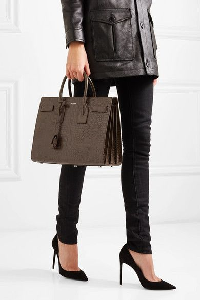 6cb056e0d Saint Laurent | Sac De Jour small croc-effect leather tote | NET-A -PORTER.COM