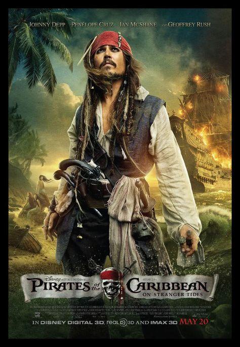 Pirates of The Caribbean FRIDGE MAGNET 6x8 Johnny Depp Magnetic Movie Poster