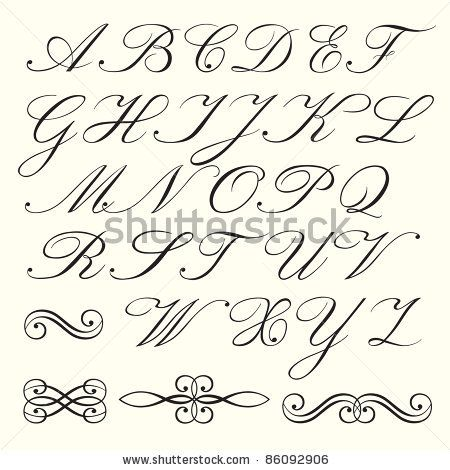how to write english alphabets in different styles pdf