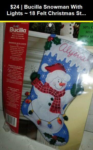"Bucilla Santa/'s Snowman ~ 18/"" Felt Christmas Stocking Kit #86862 Claus Frosty"