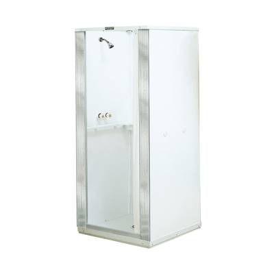 French Corner 34 5 X 72 Square Sliding Shower Enclosure Alcove