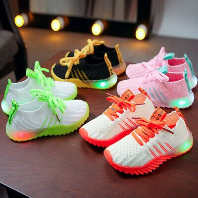 LED Luminous Shoes Children Boys Girls Light Up Sneakers Cute Trainers Kids New