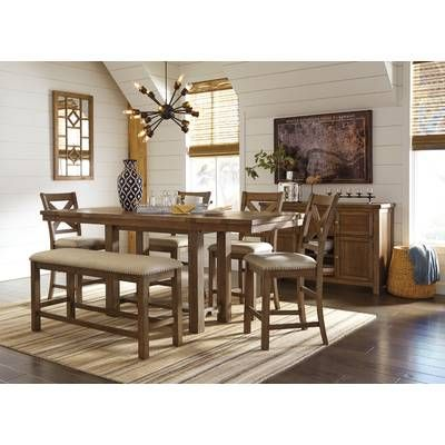 34+ Hillary rectangular counter height extendable dining table Inspiration