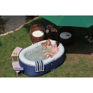 TheraPureSpa Portable Inflatable Hot Tub   Overstock.com