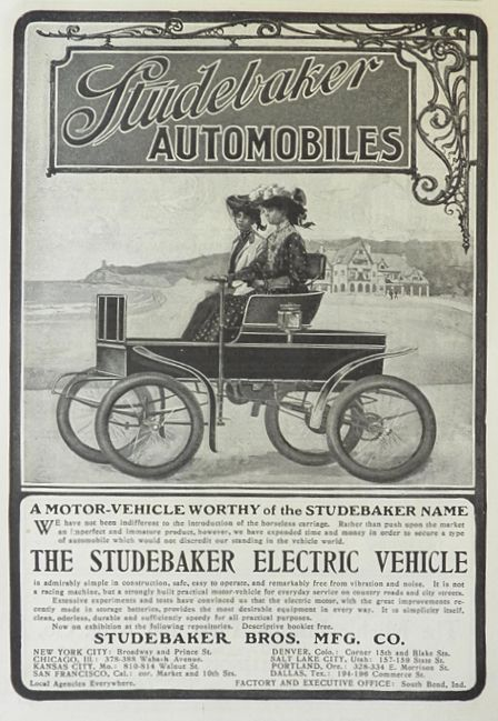 1902 Studebaker Electric Vehicle Ad Worthy Of The Name Vintage Car Ads Other Electric Cars Vehicles Studebaker