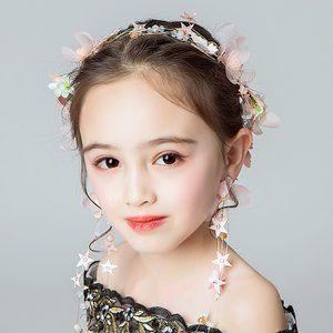 ヘッドドレス 髪飾り 子供 女の子 キッズ ヘアアクセサリー イヤリング