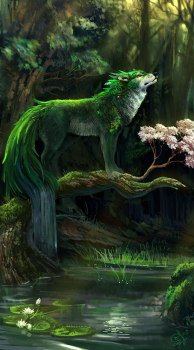 Wolf of the Woods. He who watches over nature and he who punishes those who dare disturb it.