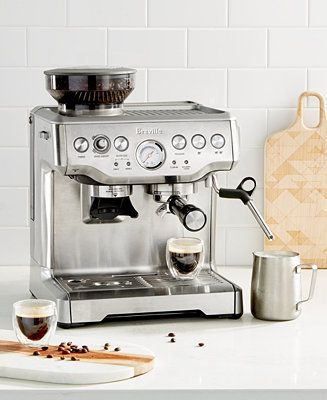 Breville Bes870xl The Barista Express Espresso Maker Reviews Coffee Makers Kitchen Macy S Espresso Espresso Machine Espresso Kitchen