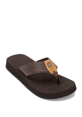 Yellow Box Adeline Flip Flops | Flip flop shoes, Womens