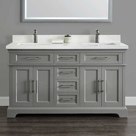 Cameron 60 Double Sink Vanity By Mission Hills With Images Double Sink Vanity Double Vanity Bathroom