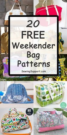 Over 30 Free Weekender Bag patterns, tutorials, and diy sewing projects. Over 30 Free Weekender Bag patterns, tutorials, and diy sewing projects. Sew these large travel overnight bags that Diy Sewing Projects, Sewing Projects For Beginners, Sewing Hacks, Sewing Tutorials, Sewing Tips, Bags Sewing, Diy And Crafts Sewing, Bag Patterns To Sew, Sewing Patterns Free