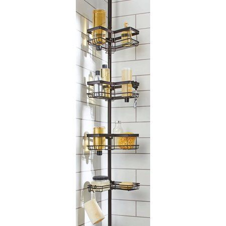 93eec00f7000e7f815fa48ec190cf4b3 - Better Homes And Gardens Contoured Tension Pole Shower Caddy Instructions