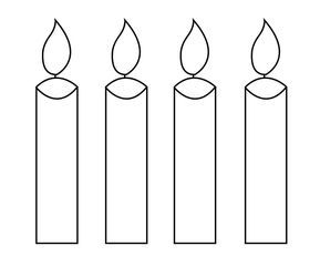 Free Printable Candle Coloring Pages Candle Printable Colorful Candles Birthday Candles Printable