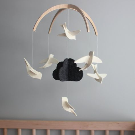 Black And White Baby Mobile Monochrome Nursery