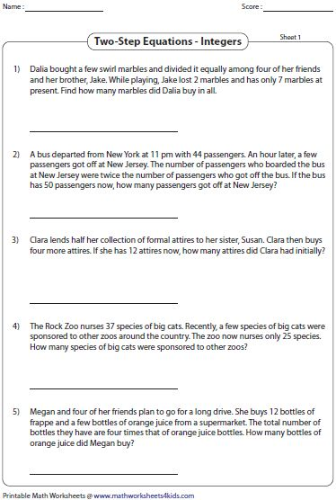 Integer Word Problems Worksheet 7th Grade 2 In 2020 Integers Word Problems Adding And Subtracting Integers Word Problem Worksheets