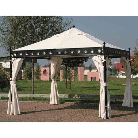 Siena Garden Seitenteile Set Natur Zu Pavillon Korfu 100 Polyester 4 Stuck Garten Pavillon Holz Pavillon Holzpavillon