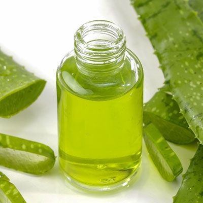 After-sun facial care sprays with aloe vera - for a refreshing cooling home .