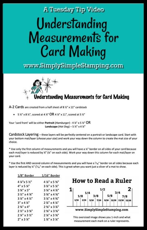 Understanding how to cut layers for card making can be a challenge so let's talk about how to measure your cardstock for layering. FREE DOWNLOAD included. Learn all about it at www.SimplySimpleStamping.com #cardmakingtips #cardmakingtutorials #papercrafting #papercrafts #conniestewart #simplysimplestamping