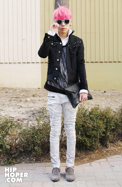 I want a boy with pink hair. Sweet but prickly: candy colored hair and spiked shoes in Korean street fashion