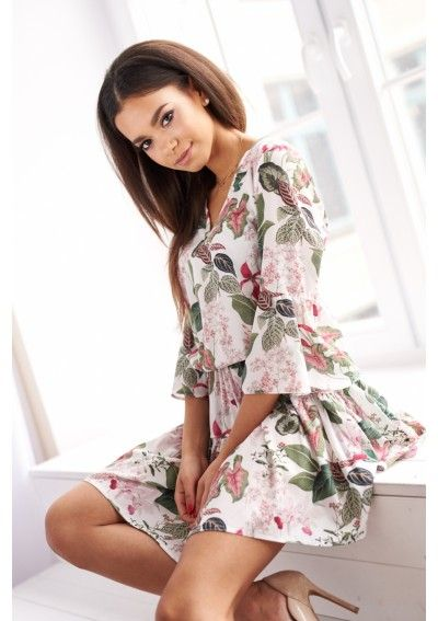 Zwiewna Sukienka W Kwiaty Dresses Floral Skirt Fashion
