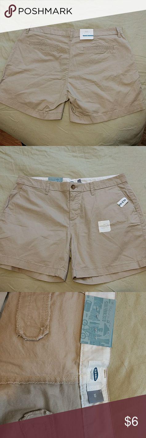 "Tan OLD NAVY Beige Khaki 5/"" shorts Size 0 NWT"