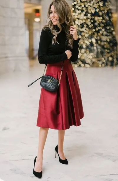 Holiday Skirts 2020 Christmas 30 Fancy and Classy Christmas Party Outfit Ideas Perfect for