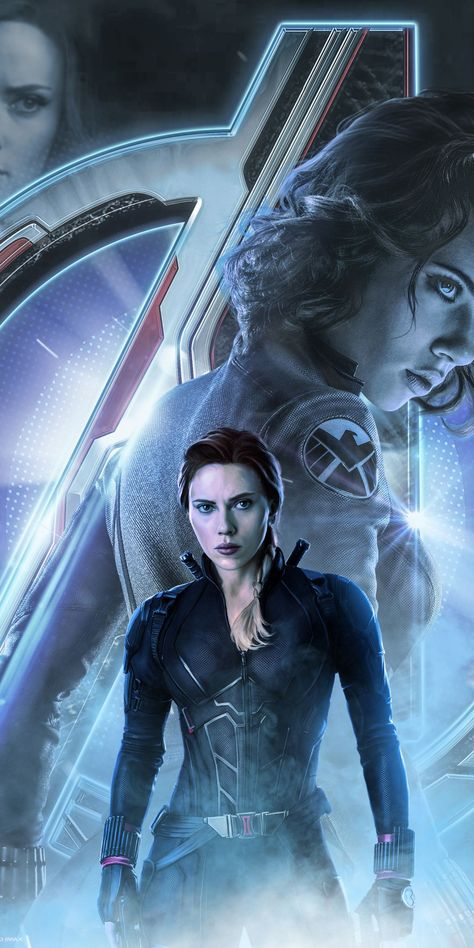2019 movie, Avengers: Endgame, Black Widow, movie poster, art, 1080×2160 wallpaper