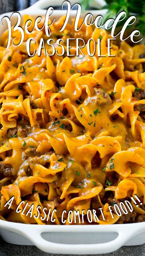 Beef Dishes, Pasta Dishes, Food Dishes, Main Dishes, Beef And Noodles, Egg Noodles, Cooking Recipes, Healthy Recipes, Kitchen Recipes