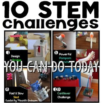 Try 10 STEM challenges you can do with commonly found household items!