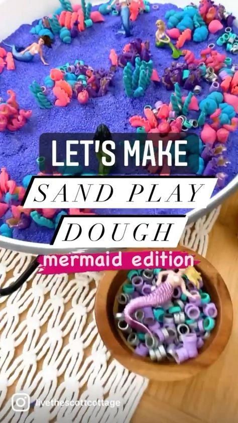 Sand Play Dough - DIY